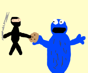 Ninja steals from cookie monster