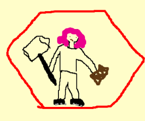 Ramona Flowers trapped in red hexagon