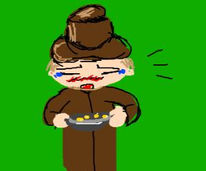 Kawaii hobo begging