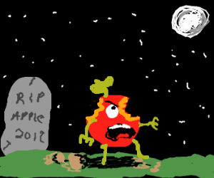Applezombie rising from grave