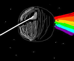 Death Star Uses Pink Floyd Prism.