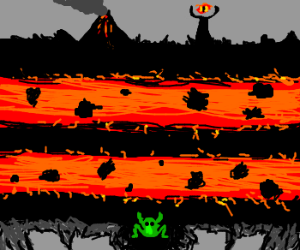 Frogger makes his way to Mordor!