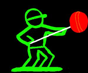 Neon soldier with lollipop