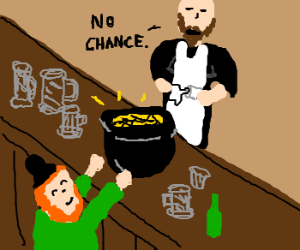 Barman won't accept leprechaun's gold
