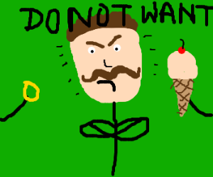mustacheman doesnt want icecream or ring