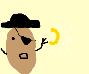 Potato Pirate finds the golden Macaroni
