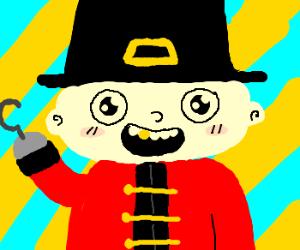 Baby pilgrim pirate