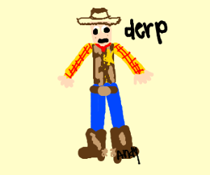"Toy Story Woody is original ""derpface"""