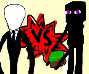 Slenderman vs. Enderman