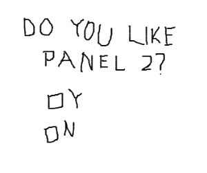 Panel 1 likes Panel 2?