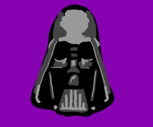 Vader making a long face