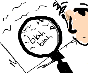 Contract fine print is examined: blablah