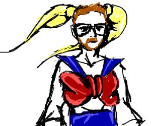 Gordon Freeman cosplaying as Sailor Moon