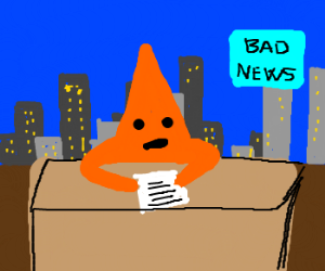Star giving bad news