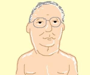 Turtle + shirtless man =