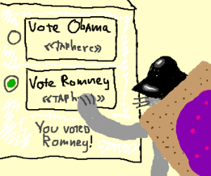 Nyandarthcat is voting for Romney.