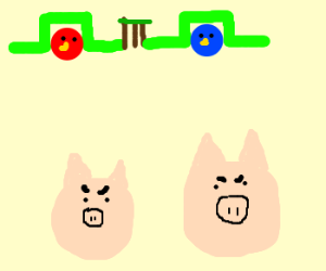 """Angry pigs"""