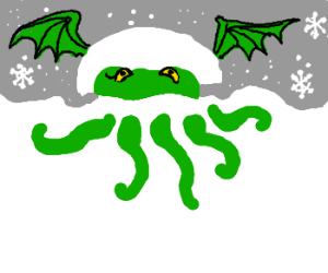 cthulhu plays in the snow