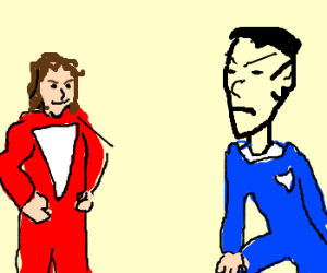 Spock is not amused by Mork