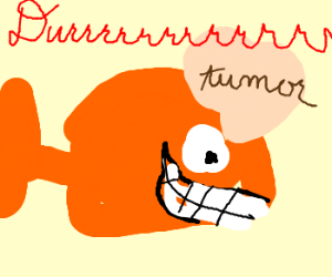 #1 Goldfish with a brain tumor