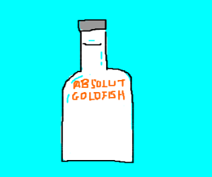 Goldfish-flavored vodka