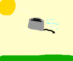 toaster flying into sun