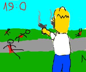 Homer Simpson 19:0 K/D