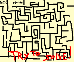an impossible maze