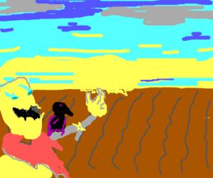 scarecrow loves a good sun rise