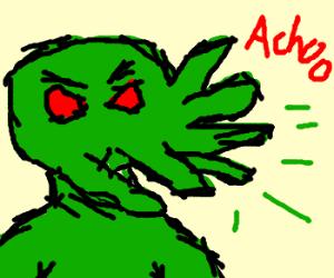 Cthulhu sneezing