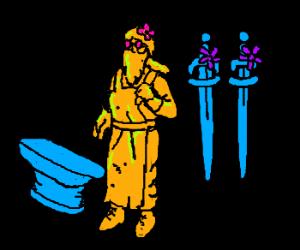 Fabulous hippie blacksmith
