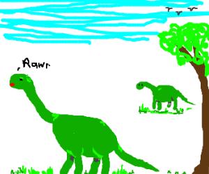 Rawr no longer means love in dinosaur :(