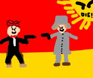 Russian Mafia vs Italian Mafia - Drawception