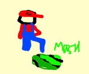 Mario the watermelon masher