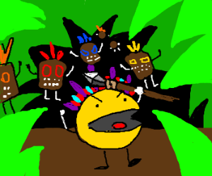 Pacman leads a tribe