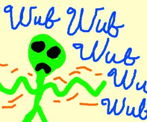 Alien hates dubstep yet dances anyway