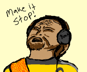 Worf can't handle the beats