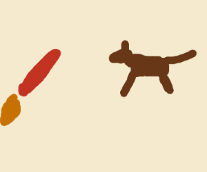 ANGRY DOG FENDS OF RED DILDO ROCKET