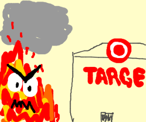 Raging fire spreads towards Target store