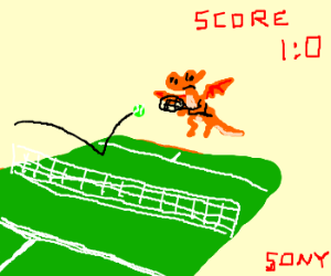 Spyro in New Sony Tennis Game