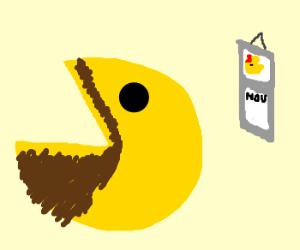 Pacman grows a beard for Movember