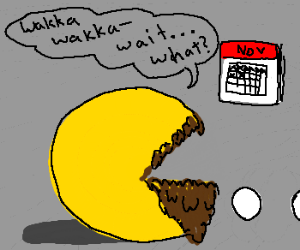 Bearded Pacman cant believe its November