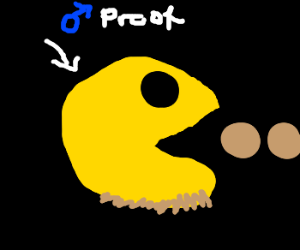 Pac-man is actually a man.