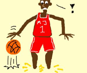 michael jordan without feet