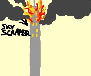 A skyscraper-sized fire