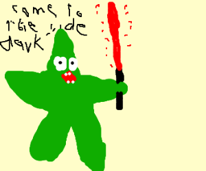 patrick turns green and becomes a sith