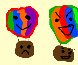 Hot Air Balloons With Mixed Emotions
