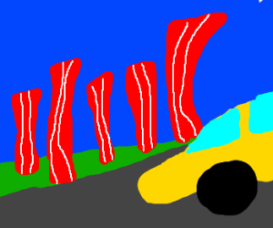 I love driving by the Bacon Fields.