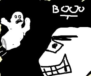 Casper is afraid of Ghosts - Drawception