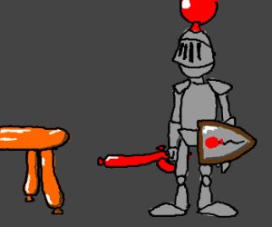 The Knight of the Balloon Table